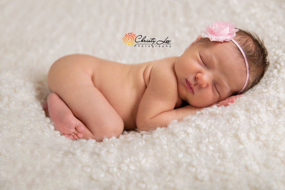 newborn baby photos in a studio