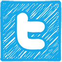 Twitter Sketched Logo