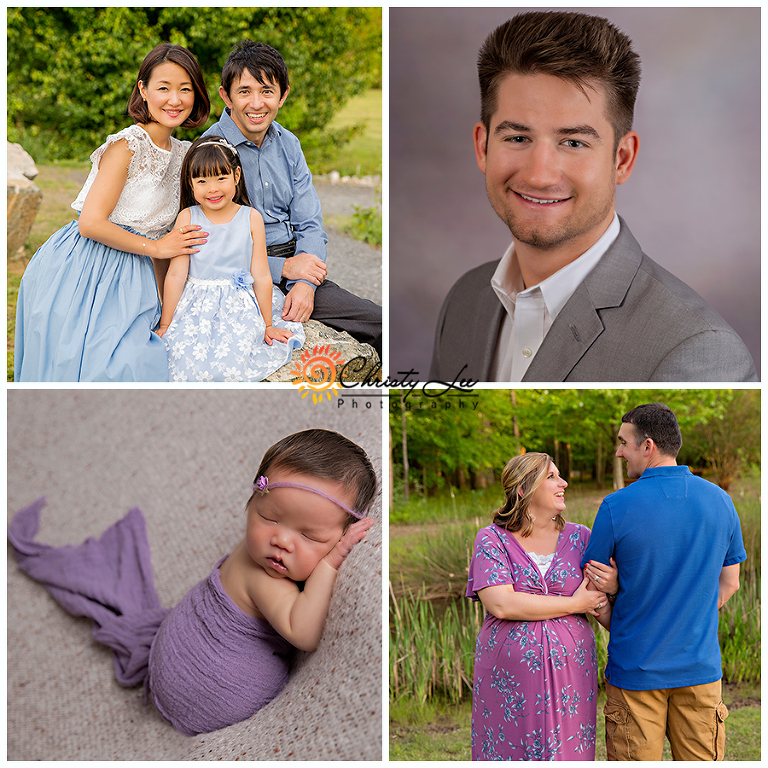 spring-2018, spring portraits, outdoor family pictures, outdoor maternity photos, studio newborn portraits, studio headshots